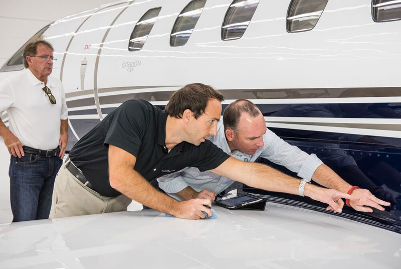Latitude 33 Aviation's Crew Inspects Aircraft Before Every Private Plane Charter
