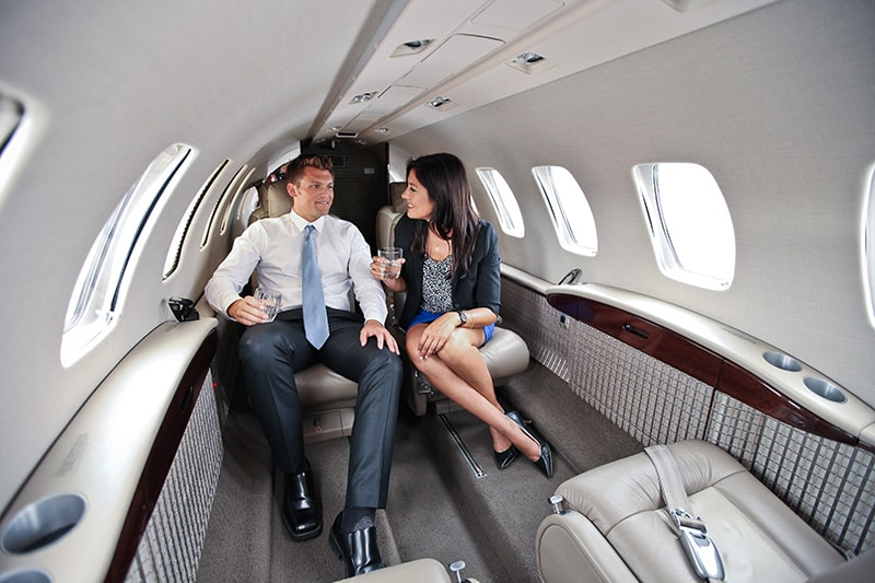 Latitude 33 Aviation's Clients Enjoying A Private Jet Charter