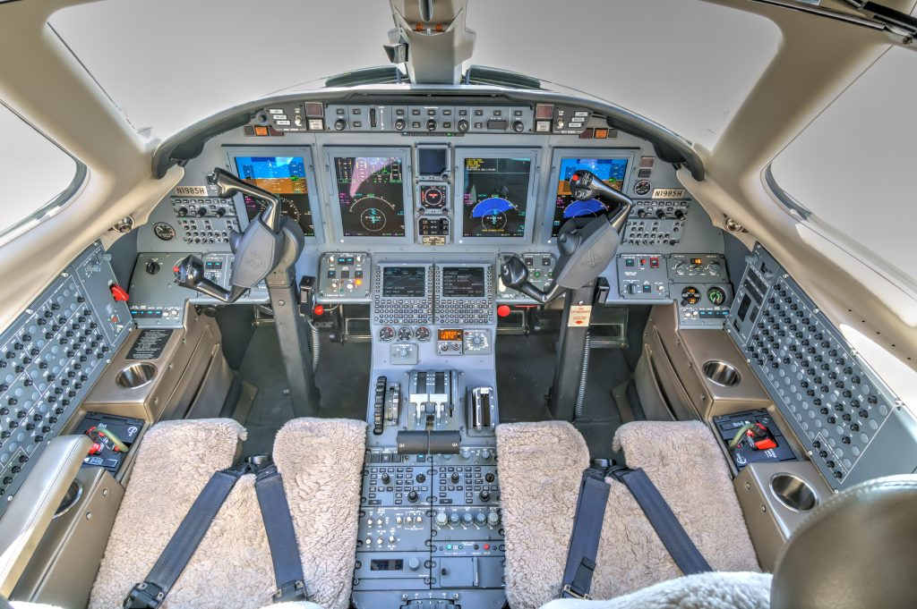 Private Jet Charter Pilot Seat