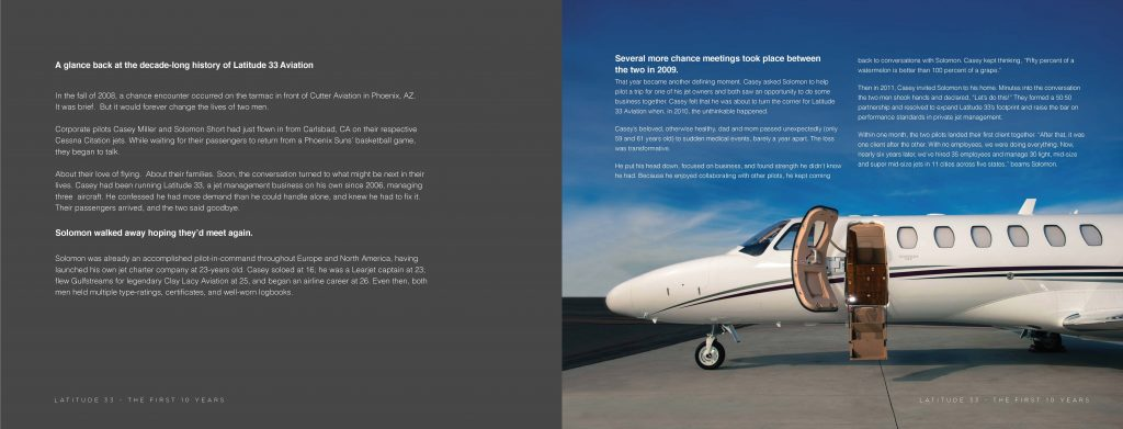 Latitude 33 Aviation 10 Year Story