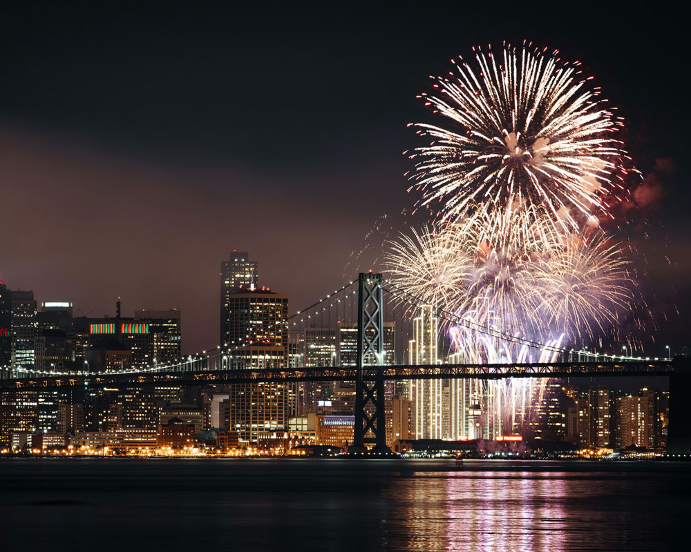 Things to do in California for Fourth of July - San Francisco fireworks