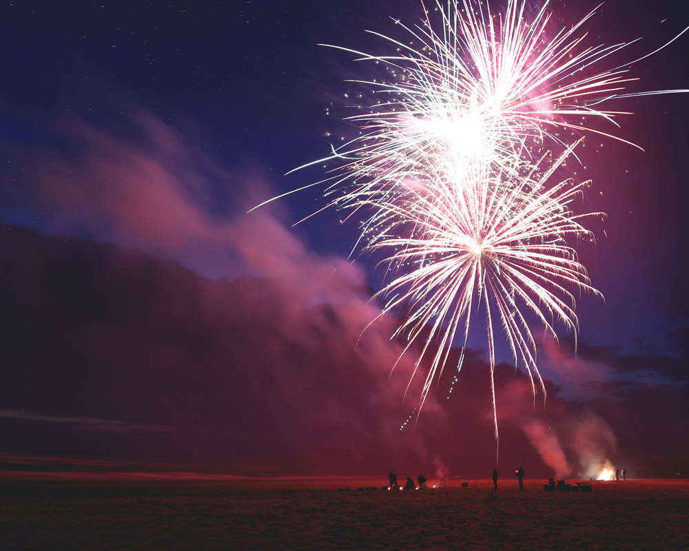 Things to do in California for Fourth of July - fireworks at the beach