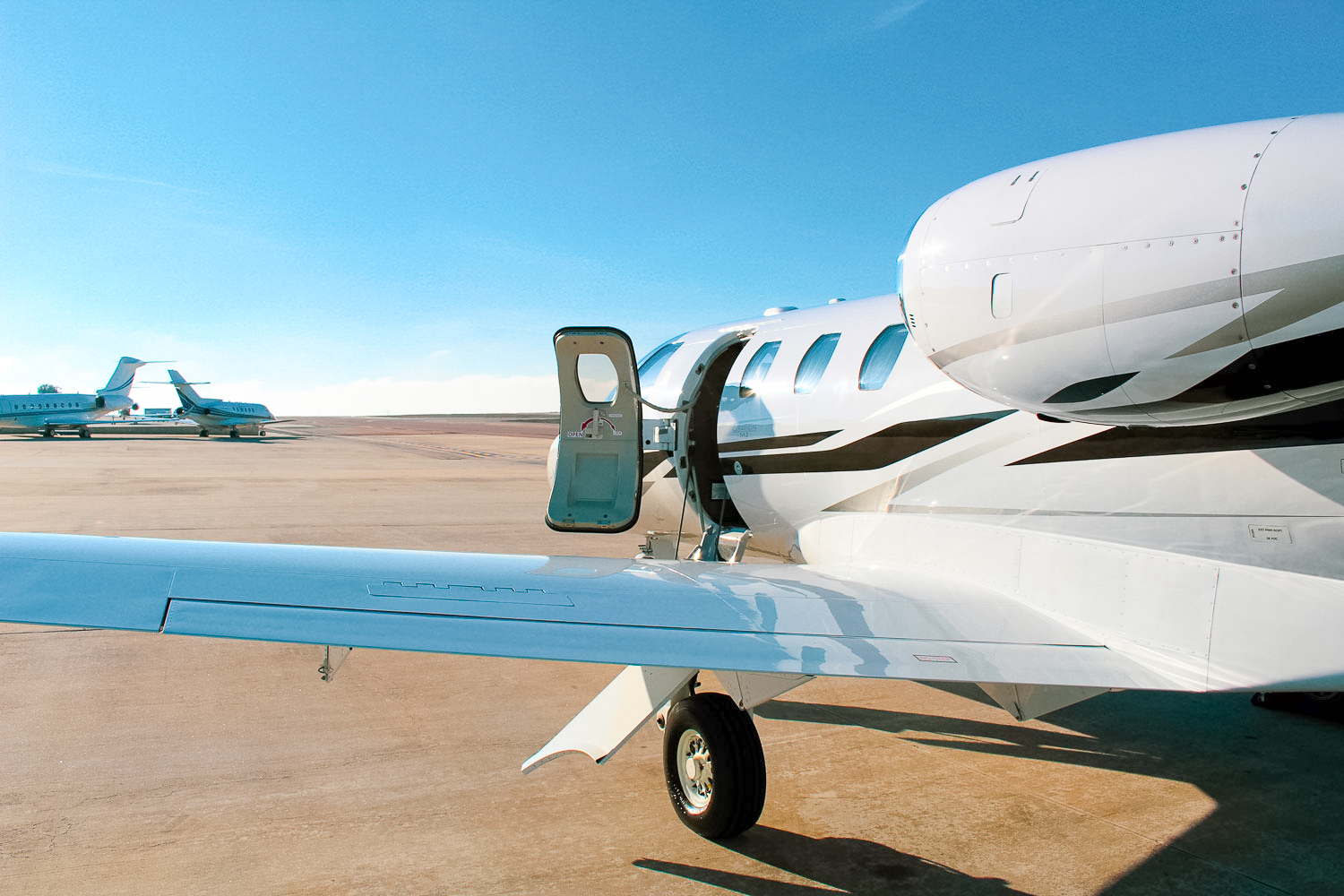 Cessna Citation M2 For Charter Exterior Aircraft Type with door open