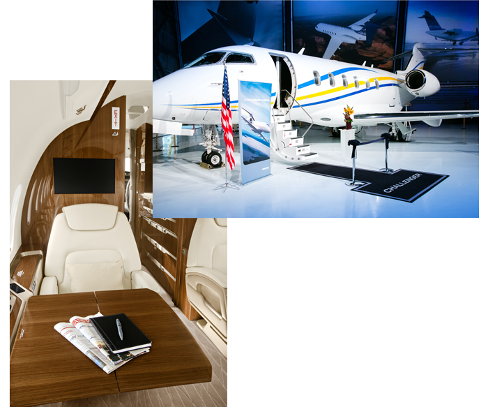 Latitude 33 Aviation Private Jet Acceptance Services Interior and Exterior Challenger 350