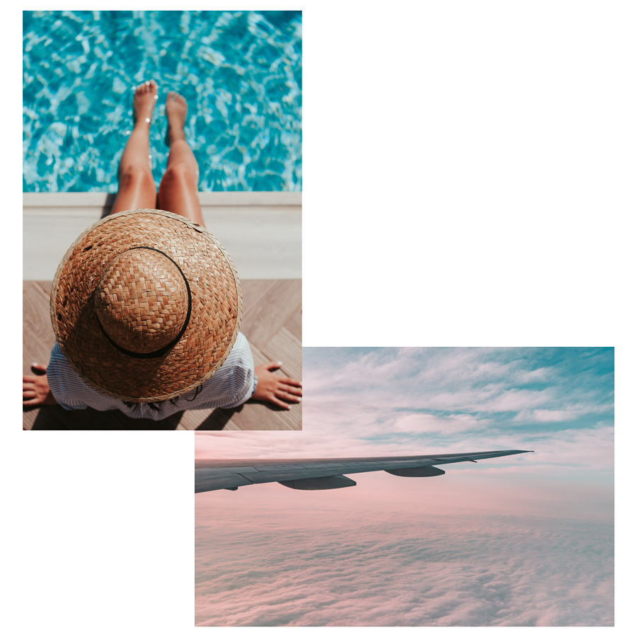 Top 5 Tips for Private Jet Travel this Summer with Latitude 33 Aviation - Pool and Window Seat View