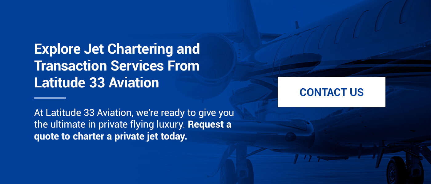 Explore Jet Chartering and Transaction Services From Latitude 33 Aviation