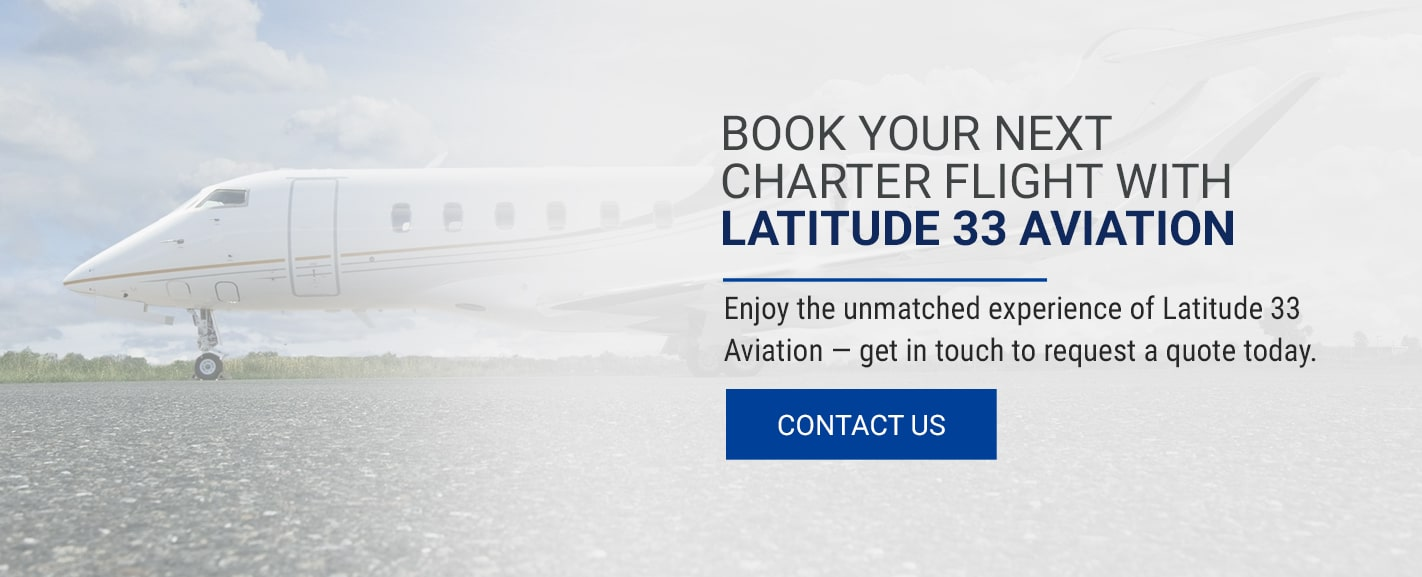 Book Your Next Charter Flight With Latitude 33 Aviation RE 1 min